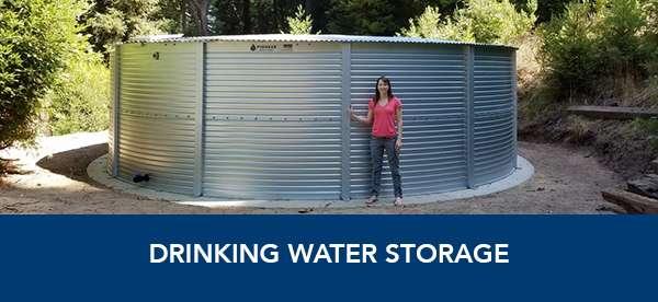 Drinking water storage tanks