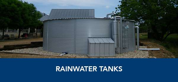 Rainwater tanks in Texas